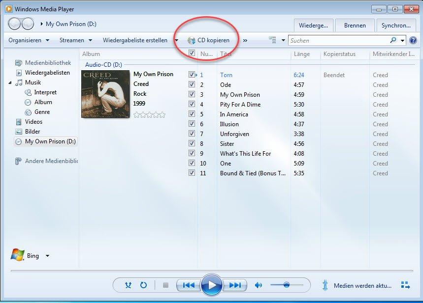 Musikdateien in mp3 umwandeln