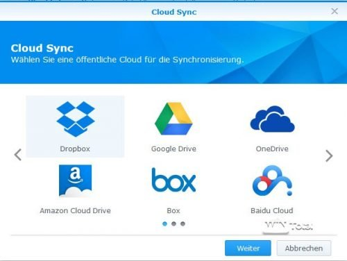 Anbieter in Cloud Sync