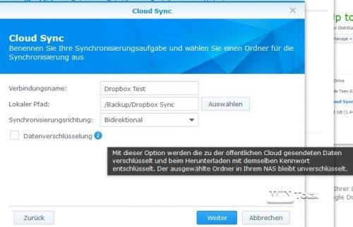 Cloud Sync Einrichtung