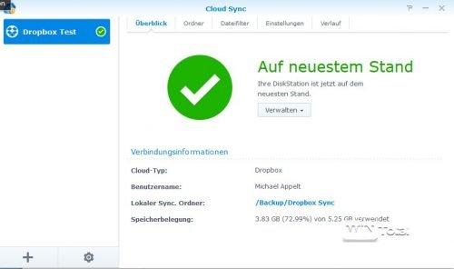 Cloud Sync Verwaltung von Jobs