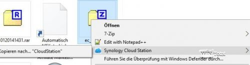 Kopieren nach CloudStation