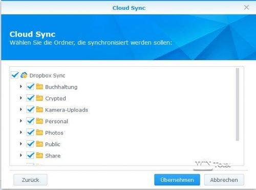 Ordnerauswahl Cloud Sync