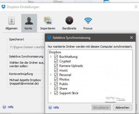 Selektive Synchronisierung