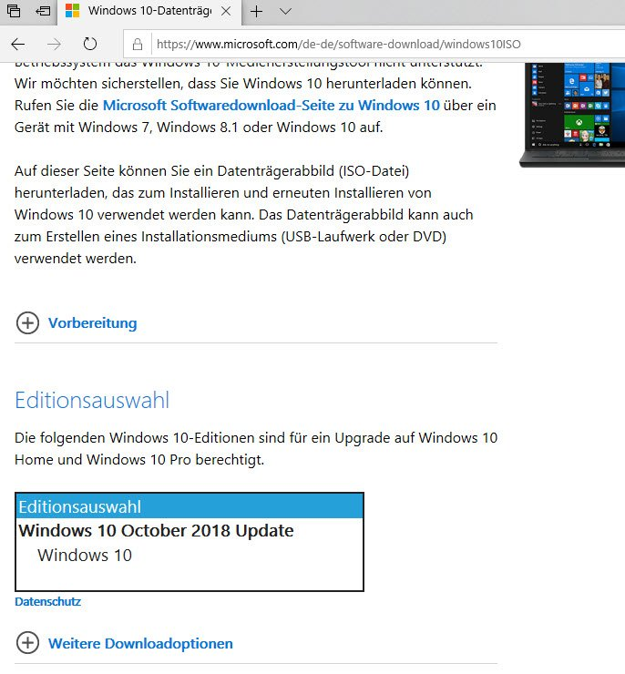 download windows 10 pro 1809 iso