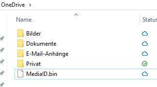 Status von Speicherzuständen in OneDrive