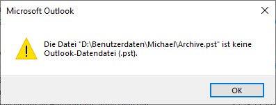 Beschädigte PST-Datei