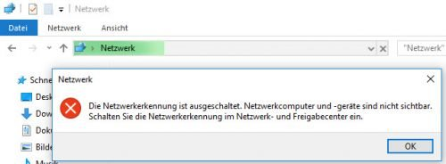 Netzwerkkennung aus