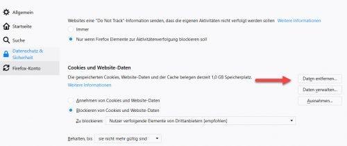 Cookies und Website-Daten löschen