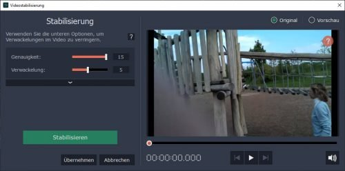 Video Stabilisierung