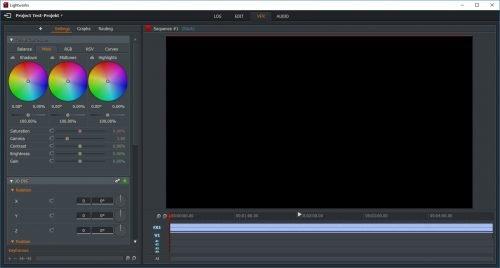 Der Effekte-Browser von Lightworks 14.5.