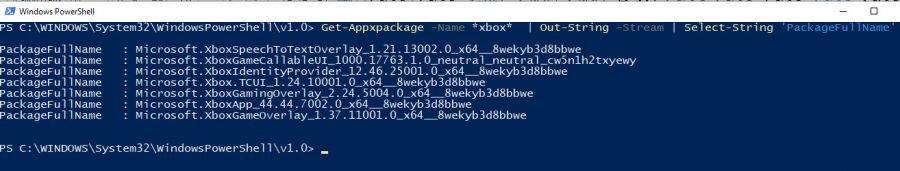 Powershell Abfrage Xbox