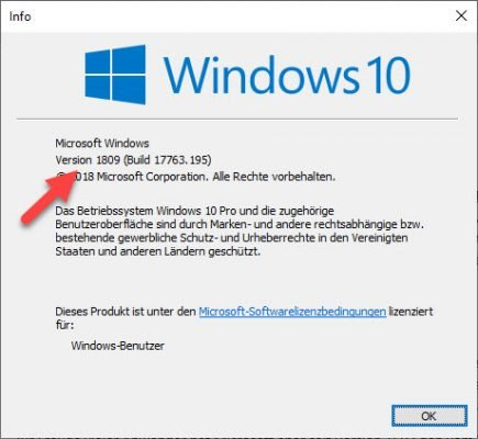 Windows-Version über WinVer ermitteln
