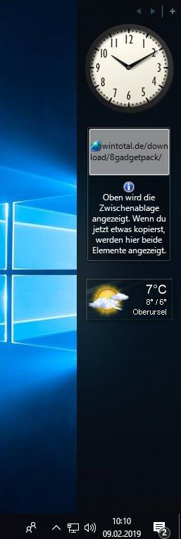 Eine Desktop-Uhr in Windows anzeigen - Tipps & Tricks