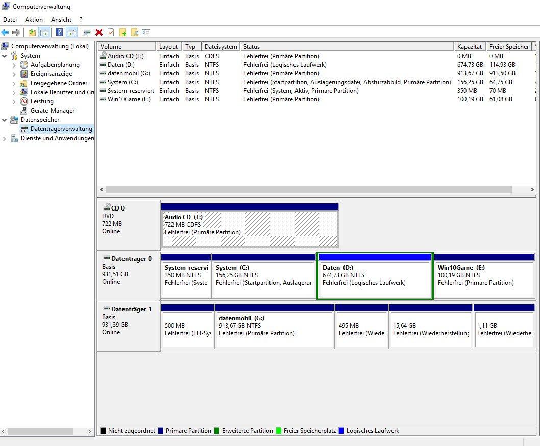 Festplatte Partitionieren Windows 10