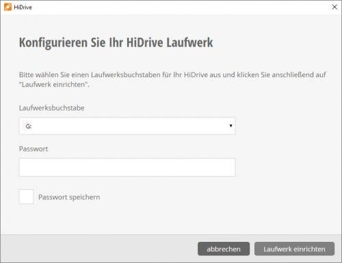 HiDrive als Laufwerk