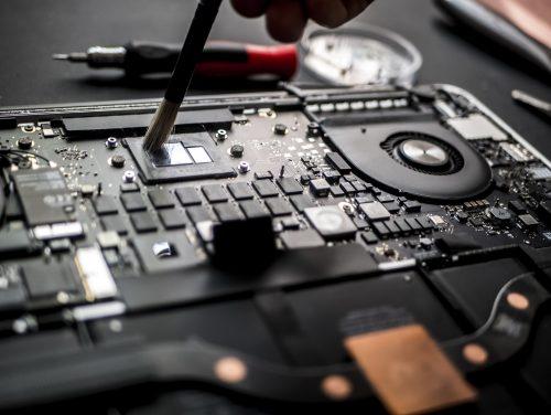 Close Up vom Laptop-Reparatur