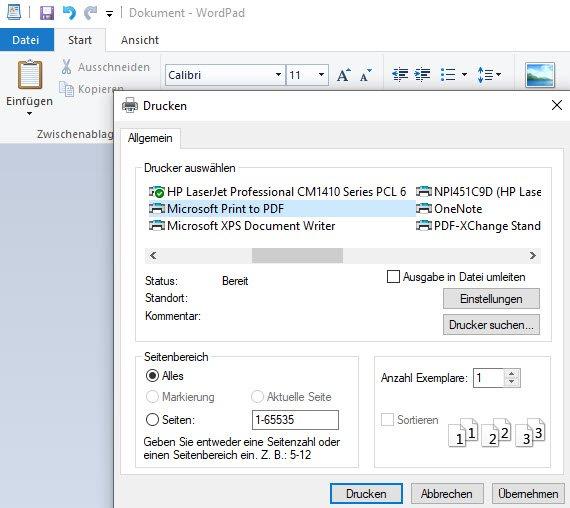 Wordpad Dateien in PDF umwandeln - Tipps & Tricks