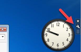 Optionen für das as Uhren-Gadget der Minianwendungen