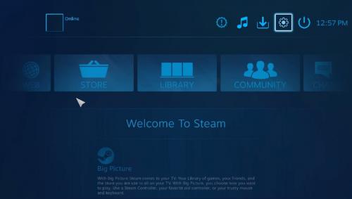 SteamOS im Vollbildmodus für TV-Geräte