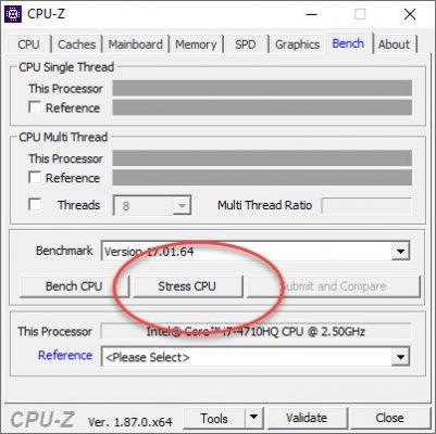 Stresstest mit CPU-Z