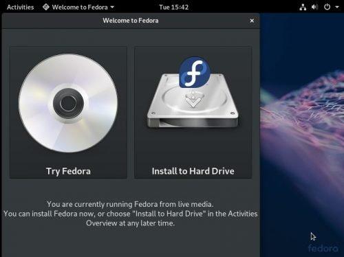 Fedora in einer virtuellen Umgebung