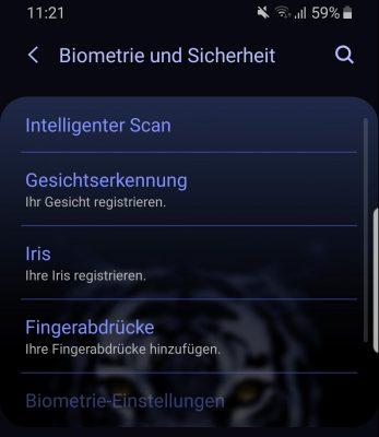 Mittels PIN oder Biometrie-Scanner können Sie Ihr Smartphone gegen Fremdzugriffe schützen.