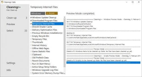 cleanmgr+ als Ersatz für die Datenträgerbereinigung