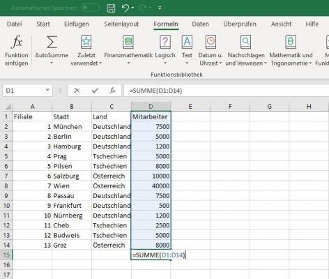 Excel Grundlagen Beispiel