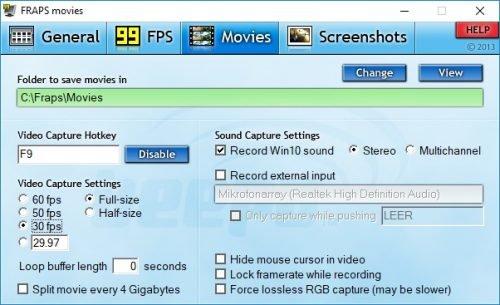 In Fraps können Sie die Framerate Ihres Videos gleich mit protokollieren.