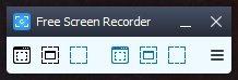 Einfach und intuitiv: Die Menü-Leiste des Free Screen Recorder.