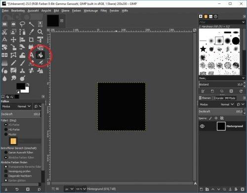 Gimp neues GIF Projekt