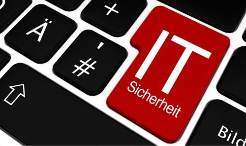 Tastatur mit Entertaste IT-Sicherheit