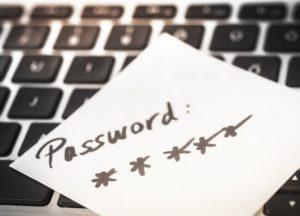 Single Sign On Bedeutung: Passwort auf Tastatur