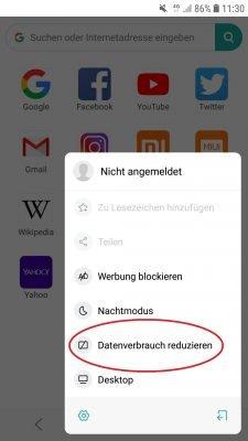Datenspar-Option in Xiaomi Mint aktivieren.