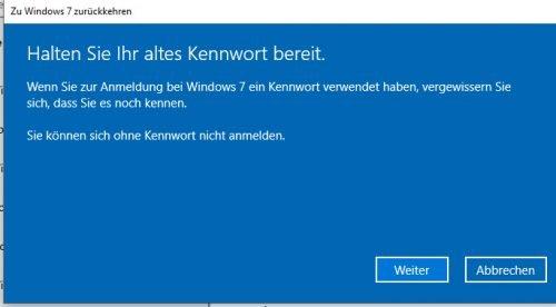 Zu Windows 7 zurückkehren