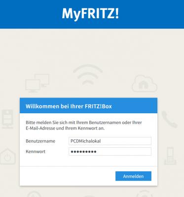 Anmeldung an FritzBox von extern