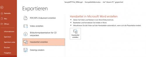 Handzettel in Microsoft Word erstellen