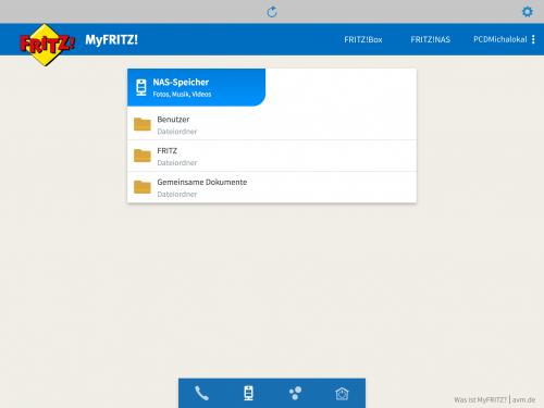 MyFRITZ App auf dem iPad
