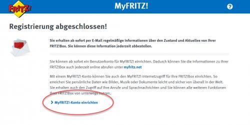MyFRITZ!-Konto einrichten