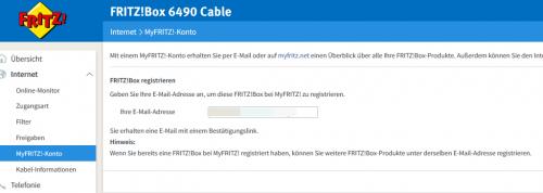 MyFRITZ!-Konto für den FRITZBox Fernzugriff anlegen