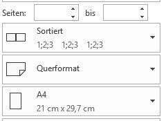 Seitenlayout für Excel-Tabellen
