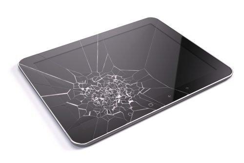Tablet mit kaputtem Bildschirm