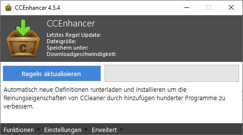CCenhancer erweitert CCleaner