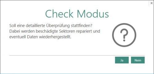 Mit nur einem Klick starten Sie eine detaillierte Überprüfung Ihrer Laufwerke.