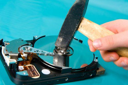 Festplatte vom PC physikalisch platt machen