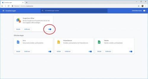 Google Docs offline Addon