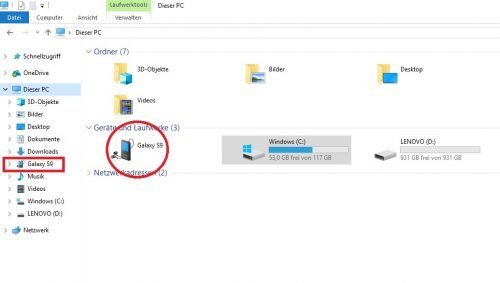 Screenshot Laufwerksübersicht PC