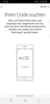 """Übersicht der Anwendung """"Move to IOS"""""""