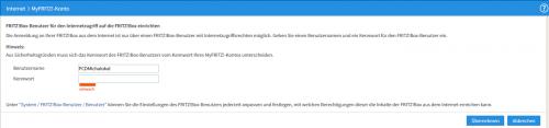 Neuer FRITZ!Box-Benutzer