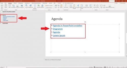 Agenda in PowerPoint erstellen